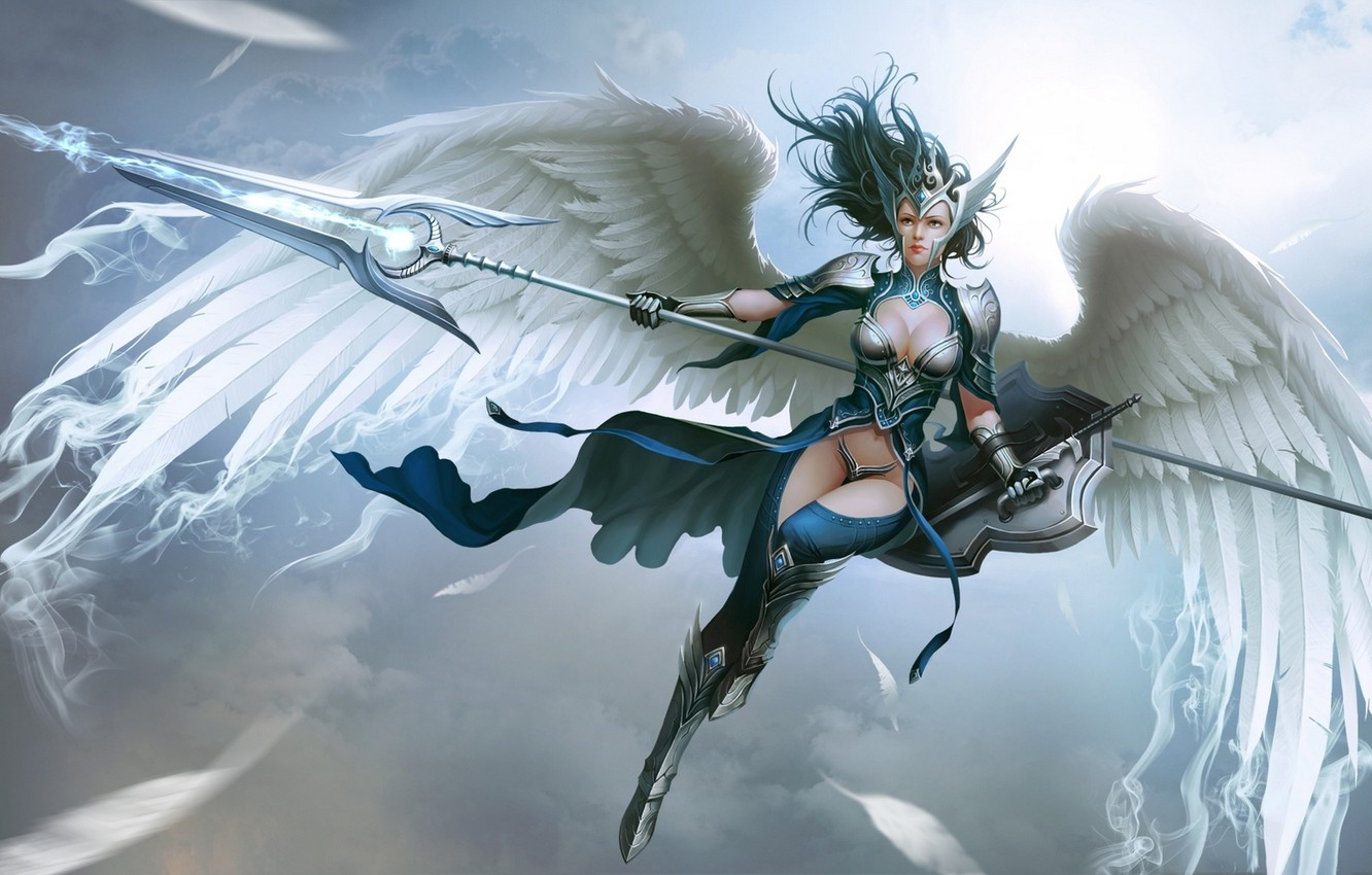 Art with Angel for MMORPG with Demons and Angels List