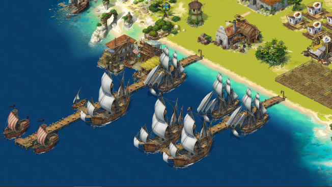 Screen from MMORPG with Pirates