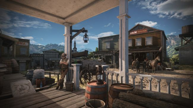 Shop on the wild wild west art for MMORPG with Player Driven Economy Category