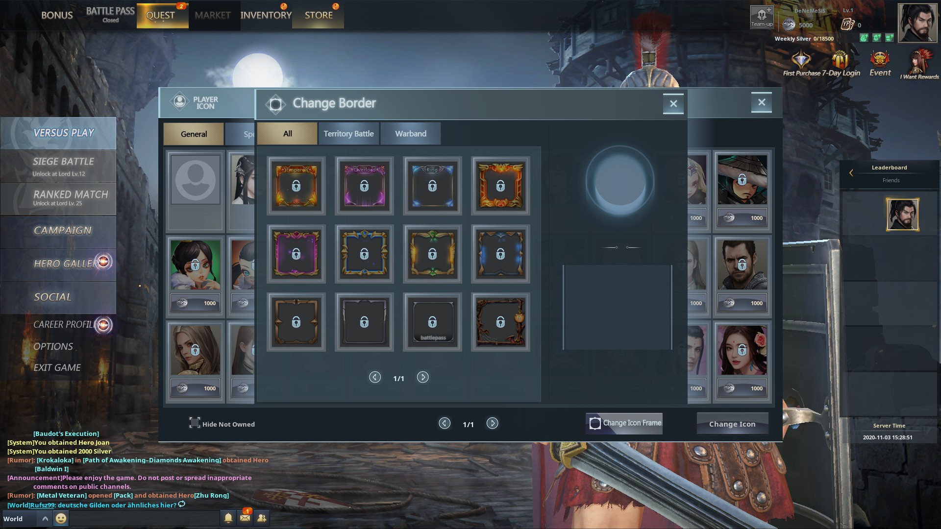 Character and Profile customization in Blood of Steel
