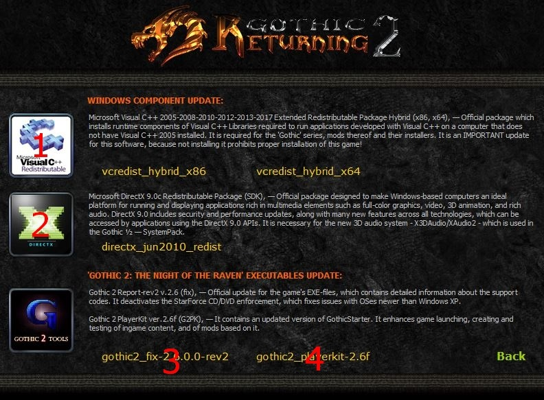 Gothic 2 Returning Necessary Software