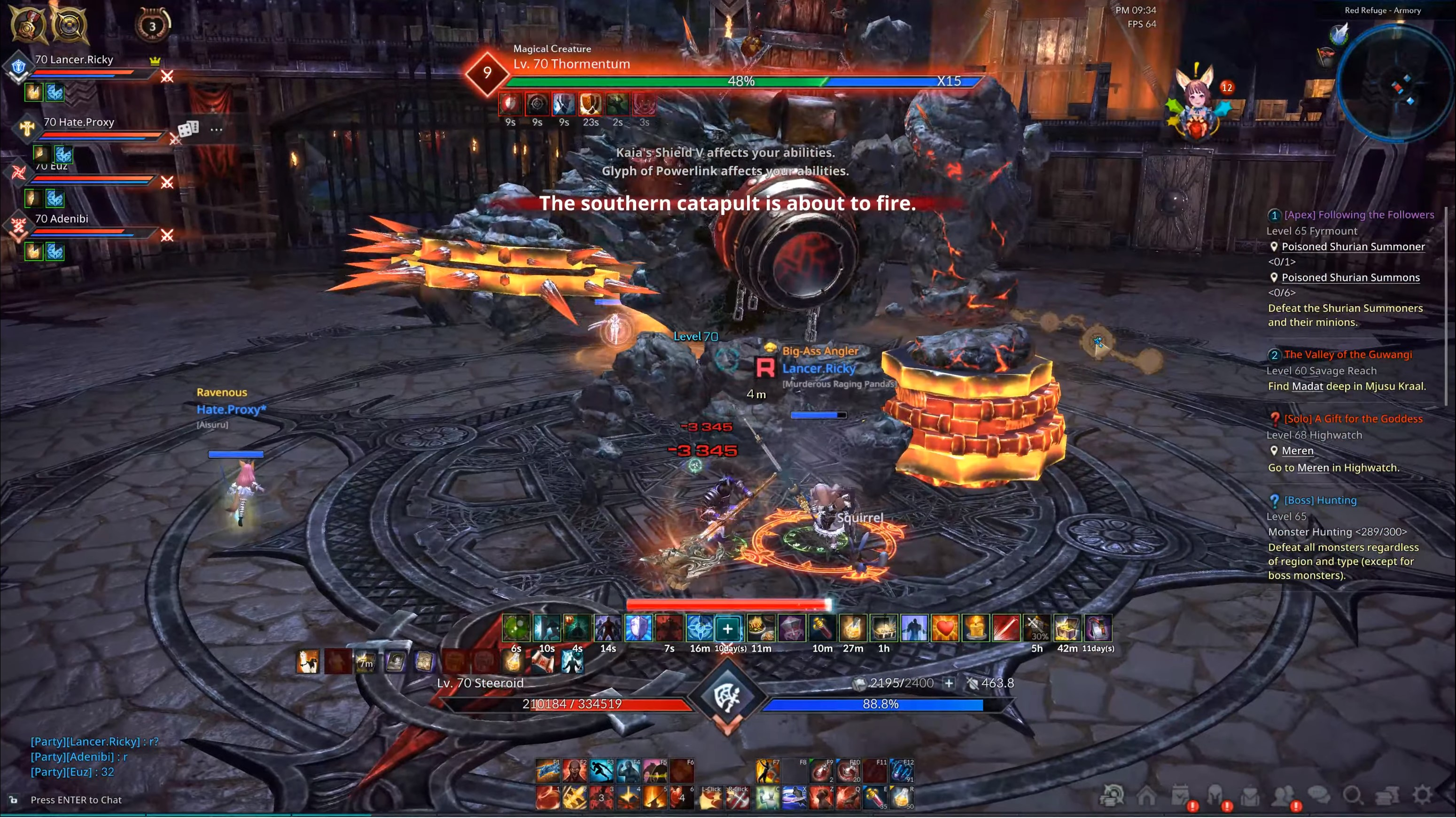 Dungeons and Raids in TERA