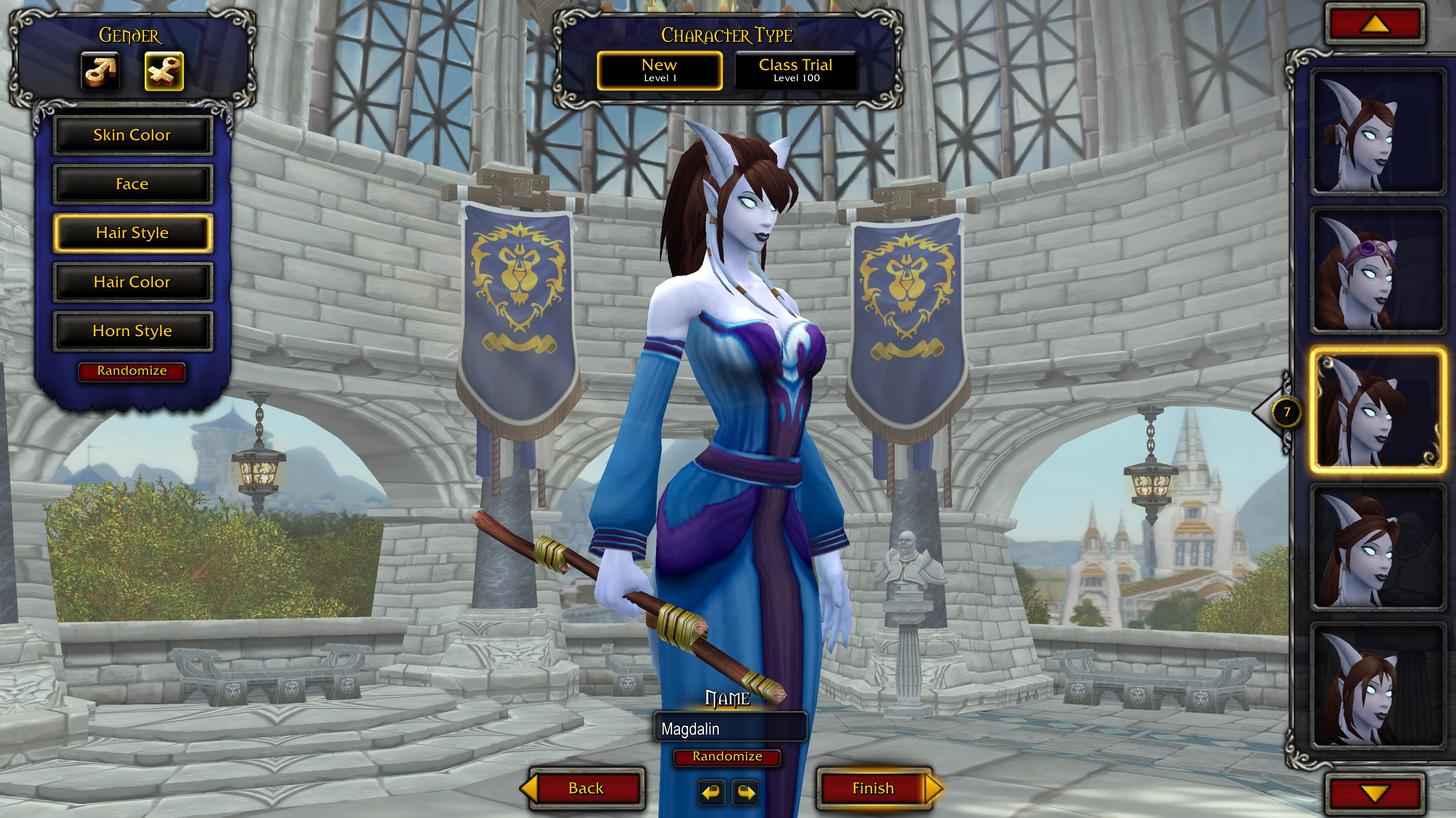 Character Customization in World of Warcraft