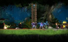 Screen from Side-Scrolling MMO Game