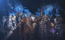 Image with heroes for simple mmorpg category