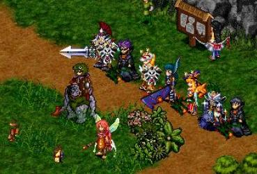 Screen from 16 Bit MMORPG Game for Category