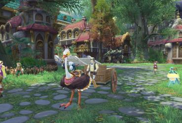 Screen from fantasy cartoon MMORPG