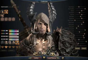 Ingame screen of Character Creation process in MMORPG