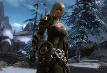 MMORPG with Healer Support Class Ingame light Screenshot with woman