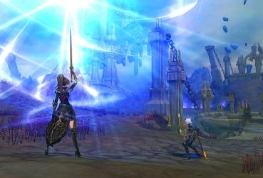 Screen from Eternal Magic MMORPG with Open Skill System