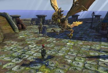 MMORPG with Pet and Monster Taming Ingame screenshot with flying wywern
