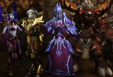4 characters from the MMORPG with Undead Races and Enemies