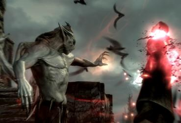 Screen from MMORPG with Vampires TESO