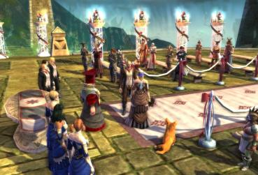 Ingame Screenshot with Marriage in MMORPG Game