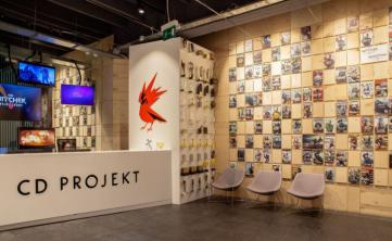 Photo of the CD Projekt RED reception in main office